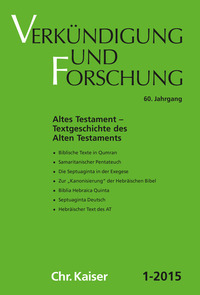 Altes Testament - Textgeschichte
